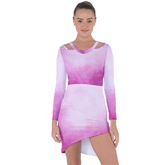 Ombre Asymmetric Cut Out Shift Dress