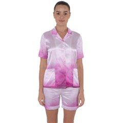 Ombre Satin Short Sleeve Pyjamas Set