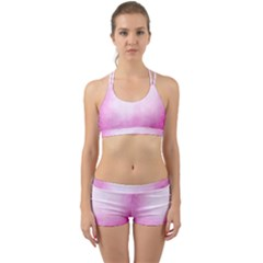 Ombre Back Web Sports Bra Set
