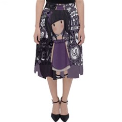 Dolly Girl In Purple Folding Skater Skirt