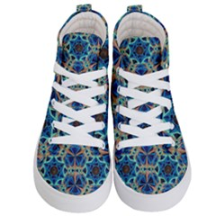 Diamond Star Blue 01 Kid s Hi Top Skate Sneakers
