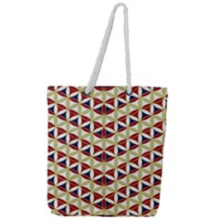 Flower Of Life Pattern 4 Full Print Rope Handle Tote (large)