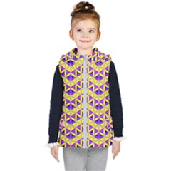 Flower Of Life Pattern 5 Kid s Puffer Vest