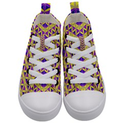 Flower Of Life Pattern 5 Kid s Mid Top Canvas Sneakers