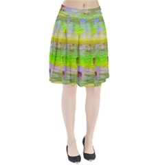 Cows And Clouds In The Green Fields Pleated Skirt