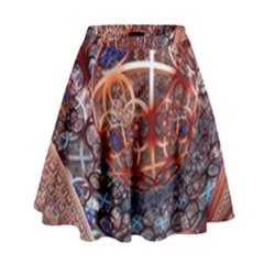 Complexity Chaos Structure High Waist Skirt