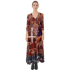 Complexity Chaos Structure Button Up Boho Maxi Dress