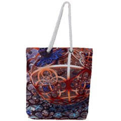 Complexity Chaos Structure Full Print Rope Handle Tote (large)