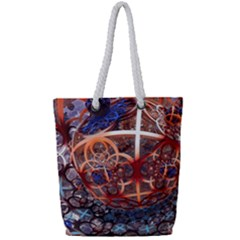 Complexity Chaos Structure Full Print Rope Handle Tote (small)