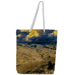 Hills Countryside Landscape Nature Full Print Rope Handle Tote (large)