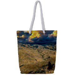 Hills Countryside Landscape Nature Full Print Rope Handle Tote (small)