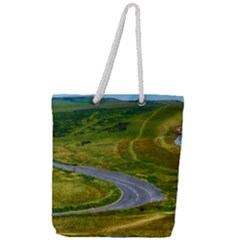 Cliff Coast Road Landscape Travel Full Print Rope Handle Tote (large)