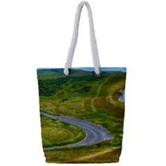 Cliff Coast Road Landscape Travel Full Print Rope Handle Tote (small)