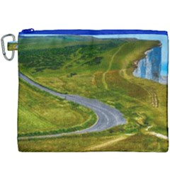 Cliff Coast Road Landscape Travel Canvas Cosmetic Bag (xxxl)