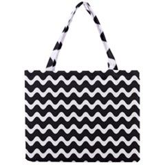 Wave Pattern Wavy Halftone Mini Tote Bag