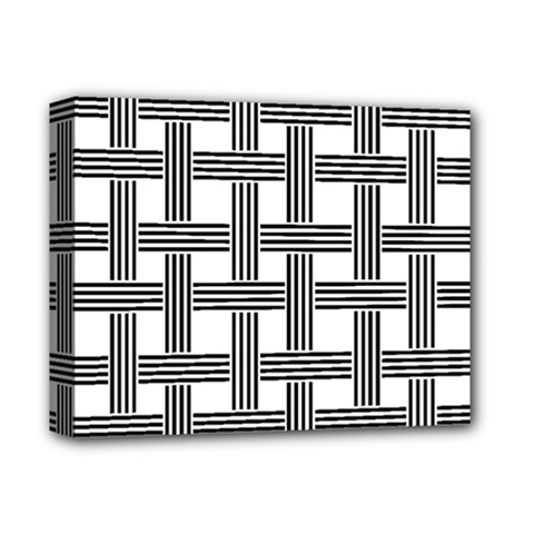 Seamless Stripe Pattern Lines Deluxe Canvas 14  X 11