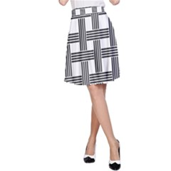 Seamless Stripe Pattern Lines A Line Skirt