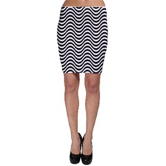 Wave Pattern Wavy Water Seamless Bodycon Skirt