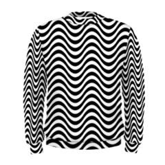 Wave Pattern Wavy Water Seamless Men s Sweatshirt