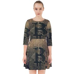 Bitcoin Cryptocurrency Blockchain Smock Dress