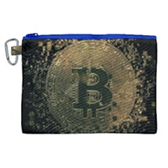 Bitcoin Cryptocurrency Blockchain Canvas Cosmetic Bag (xl)