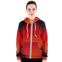 Sphere 3d Geometry Structure Women s Zipper Hoodie