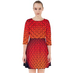 Sphere 3d Geometry Structure Smock Dress