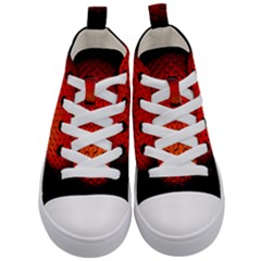 Sphere 3d Geometry Structure Kid s Mid Top Canvas Sneakers