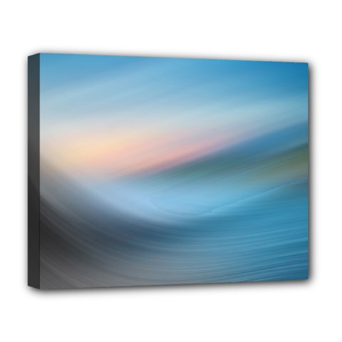 Wave Background Pattern Abstract Lines Light Deluxe Canvas 20  X 16