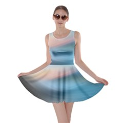Wave Background Pattern Abstract Lines Light Skater Dress