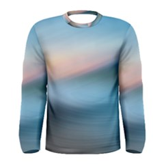 Wave Background Pattern Abstract Lines Light Men s Long Sleeve Tee