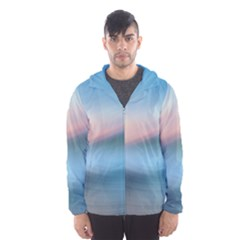 Wave Background Pattern Abstract Lines Light Hooded Wind Breaker (men)