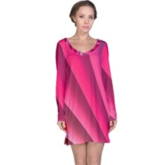 Wave Pattern Structure Texture Colorful Abstract Long Sleeve Nightdress