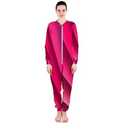 Wave Pattern Structure Texture Colorful Abstract Onepiece Jumpsuit (ladies)
