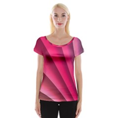 Wave Pattern Structure Texture Colorful Abstract Cap Sleeve Tops