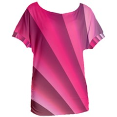 Wave Pattern Structure Texture Colorful Abstract Women s Oversized Tee