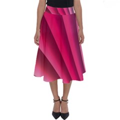 Wave Pattern Structure Texture Colorful Abstract Perfect Length Midi Skirt