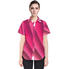 Wave Pattern Structure Texture Colorful Abstract Women s Short Sleeve Shirt