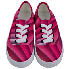Wave Pattern Structure Texture Colorful Abstract Kids  Classic Low Top Sneakers