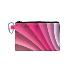 Wave Pattern Structure Texture Colorful Abstract Canvas Cosmetic Bag (small)