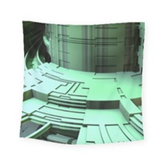 Futuristic Urban Architecture Square Tapestry (small)