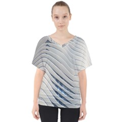 Aqua Building Wave V Neck Dolman Drape Top