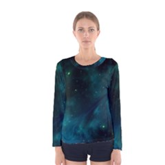 Green Space All Universe Cosmos Galaxy Women s Long Sleeve Tee