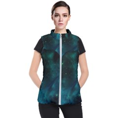Green Space All Universe Cosmos Galaxy Women s Puffer Vest