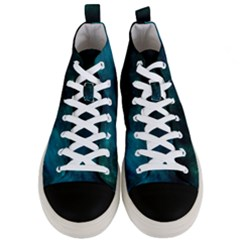 Green Space All Universe Cosmos Galaxy Men s Mid Top Canvas Sneakers
