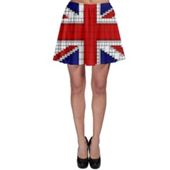 Union Jack Flag Uk Patriotic Skater Skirt
