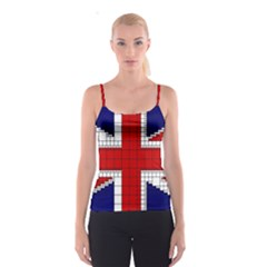 Union Jack Flag Uk Patriotic Spaghetti Strap Top