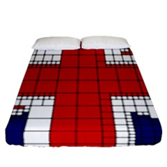 Union Jack Flag Uk Patriotic Fitted Sheet (queen Size)