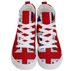 Union Jack Flag Uk Patriotic Kid s Hi Top Skate Sneakers
