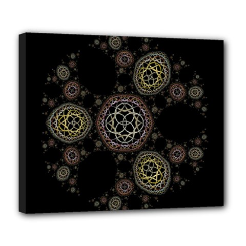 Background Pattern Symmetry Deluxe Canvas 24  X 20
